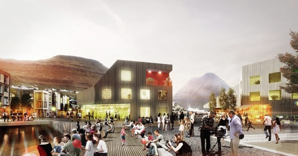 klaksvik city centre plaza