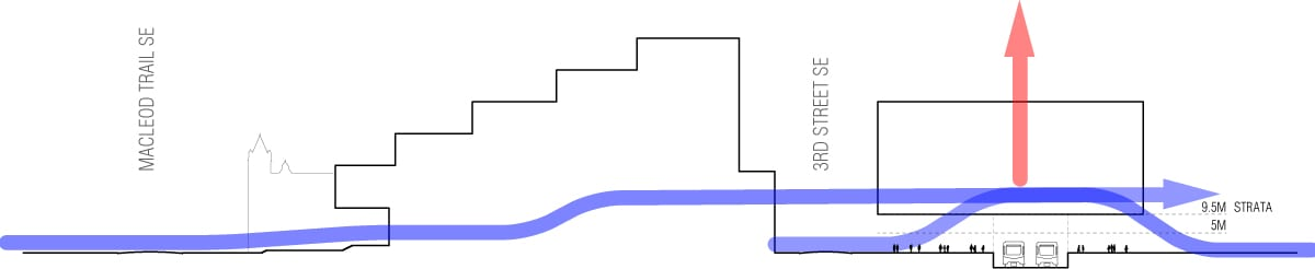 section - circulation blue line