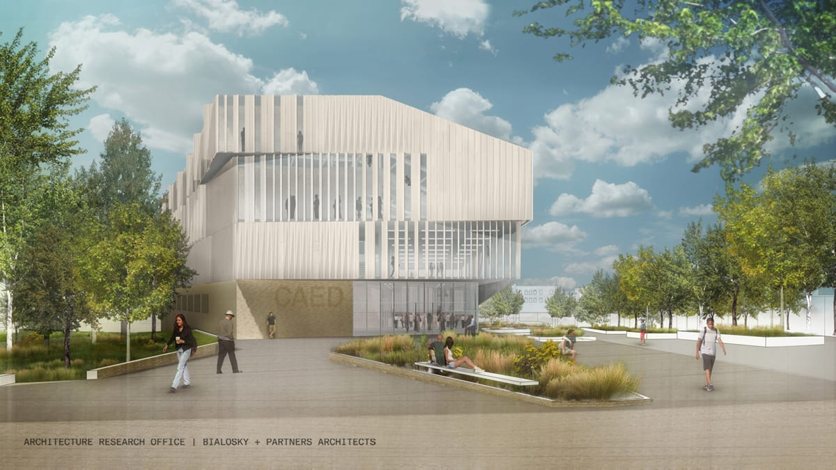 aro-bialosky caed rendering exterior east day