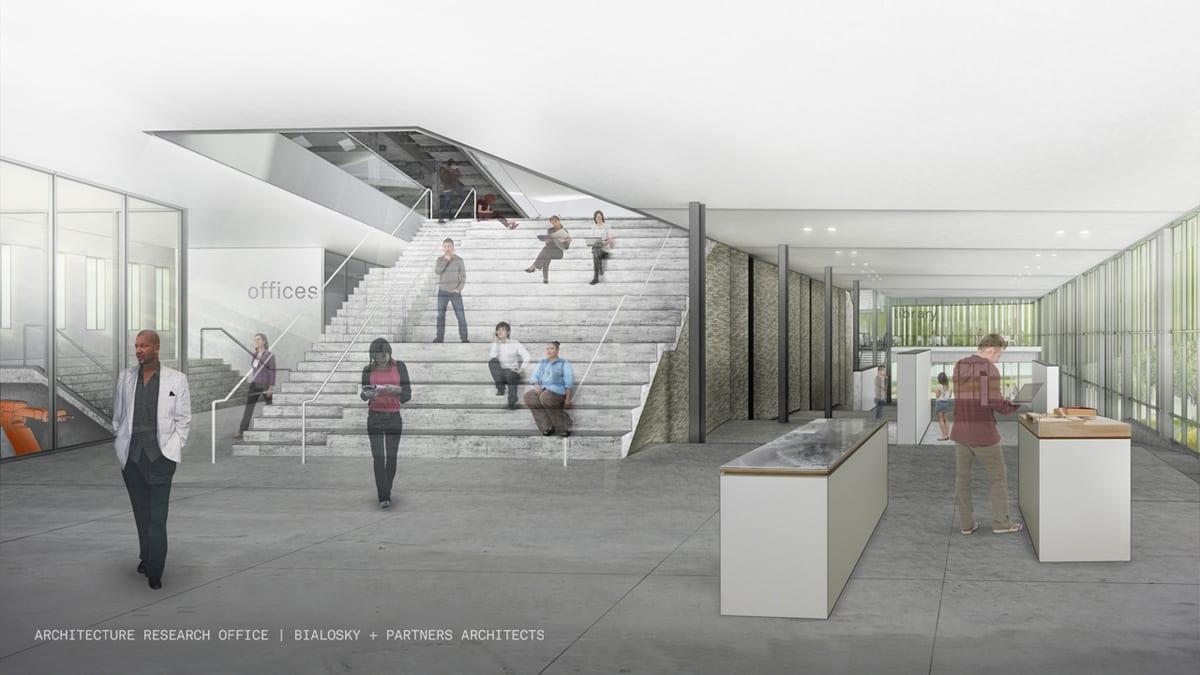 aro-bialosky caed rendering interior grandstair