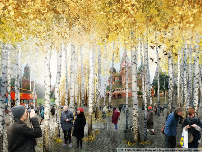 redsquareforest  2013 diller scofidio renfro with hargreaves associates and citymakers