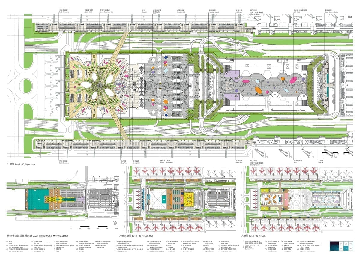 Taiwan S Taoyuaong Airport Terminal 3 Competition Competitions